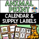 Jungle/Safari Themed Classroom Pack (Calendar Numbers, Months, Labels, etc)