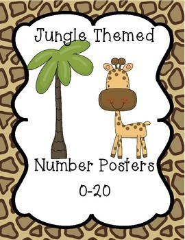 Jungle/Safari Themed Number Posters 0-20
