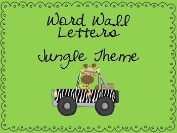 Jungle/Safari Word Wall Letters