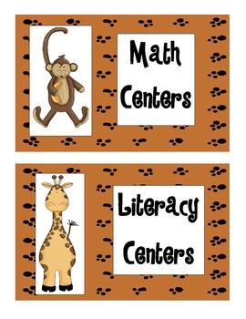 Jungle/Safari/Animals Classroom Theme Beginning of Year Materials