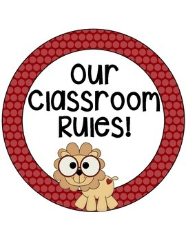 Jungle/Zoo Brightly Colored Classroom Rules! 18!!