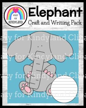 Zoo Craft and Writing: Elephant