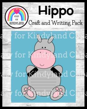 Hippo Craft and Writing (Zoo, Jungle, Animal Research)