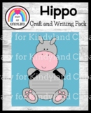 Hippo Craft and Writing for Kindergarten (Zoo, Jungle, Animal Research)