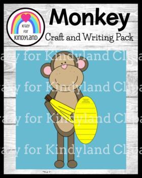 Zoo Craft and Writing: Monkey