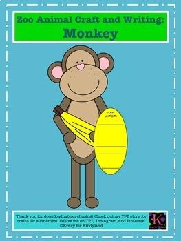 Zoo Craft & Writing Pack: Lion, Panda, Monkey, Hippo, Zebra (Animal Research)