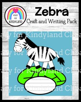 Zoo Craft and Writing: Zebra