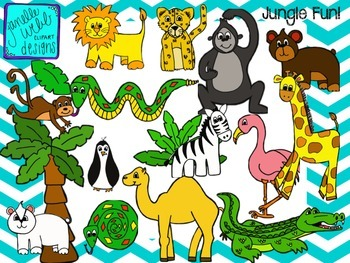 Jungle/Zoo Fun {Janelle Webb Designs Digital Clip Art}