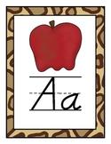 Jungled Themed D'Nealian Alphabet (Full Page)