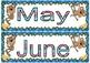 Jungle/monkey theme Month names