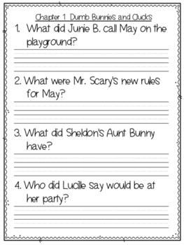 Junie B. Dumb Bunny Book Companion