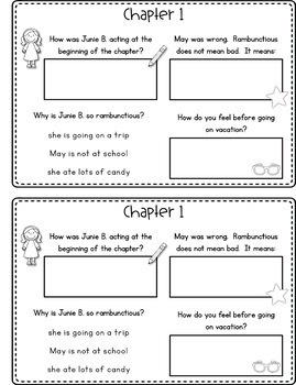 Junie B., First Grader: Aloha-ha-ha! Reading Response Journal