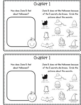 Junie B., First Grader: BOO and I MEAN It! Reading Response Journal