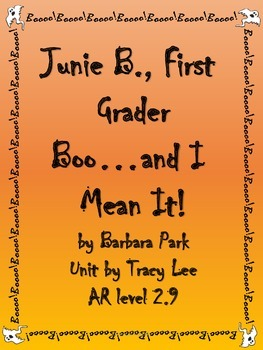 Junie B., First Grader Boo and I Mean It!