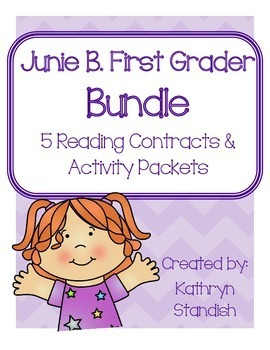 Junie B., First Grader Bundle (5 Reading Contracts & Activity Packets)