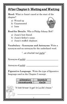 Junie B., First Grader: Dumb Bunny (Barbara Park) Novel Study / Comprehension