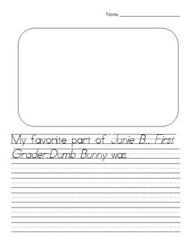 Junie B., First Grader: Dumb Bunny Book Packet