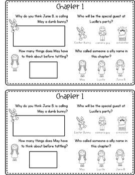 Junie B., First Grader: Dumb Bunny Reading Response Journal