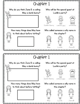 Junie B. Jones | Easter | Reading Comprehension | Book Companion | Journal