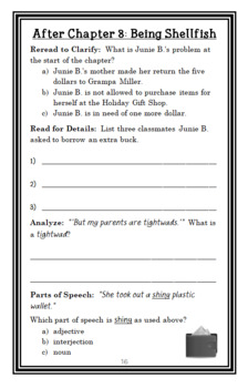 Junie B., First Grader: Jingle Bells, Batman Smells! (Barbara Park) Novel Study