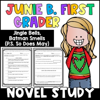 Junie B. First Grader, Jingle Bells Batman Smells: Unit of Reading Responses