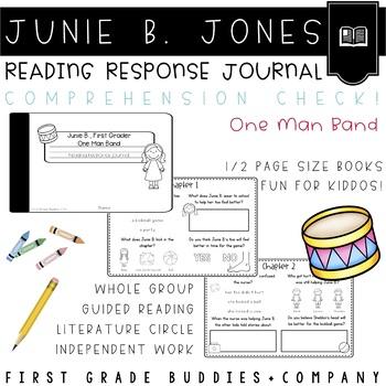 Junie B. Jones | One Man Band | Reading Comprehension | Book Companion