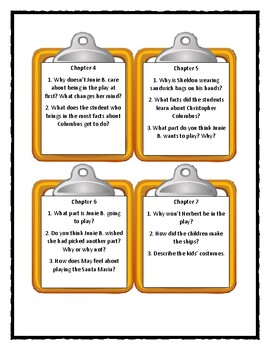 Junie B., First Grader: SHIPWRECKED - Discussion Cards