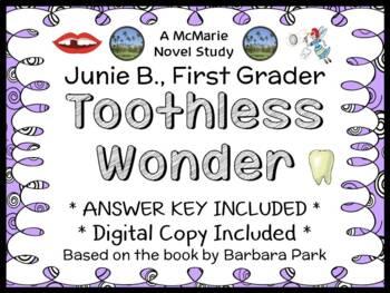 Junie B., First Grader Toothless Wonder (Barbara Park) Novel Study