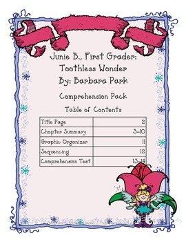 Junie B., First Grader: Toothless Wonder Comprehension Pack