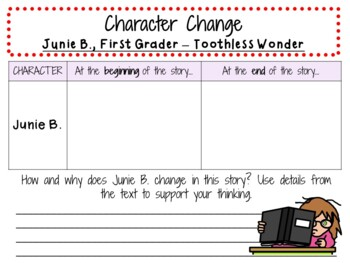 Junie B., First Grader - Toothless Wonder by Barbara Park:  A  Literature Study!