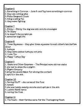 Junie B., First Grader, Turkeys We Have Eaten... Comprehension Packet