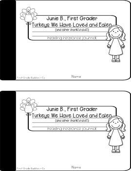Junie B., First Grader: Turkeys We Have Loved... Reading Response Journal
