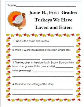 Junie B., First Grader: Turkeys We Have Loved and Eaten