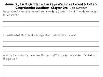 Junie B., First Grader - Turkeys We Have Loved and Eaten by Barbara Park