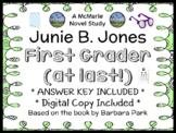 Junie B., First Grader (at last!) Novel Study / Reading Comprehension (Park)