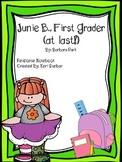 Junie B., First Grader (at last!) Response Notebook