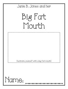 Junie B. Jones Big Fat Mouth Comprehension Packet