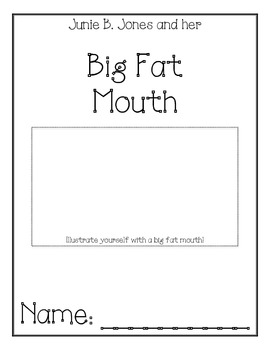 Junie B. Jones Big Fat Mouth Comprehension Packet