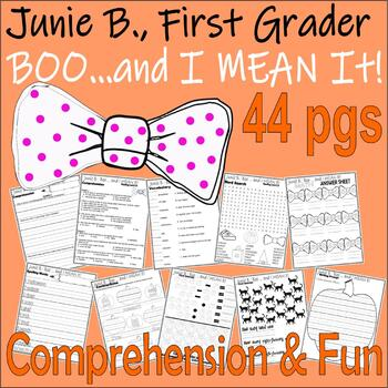 Junie B Jones Boo & I MEAN IT! Halloween Comprehension Book Companion Pack
