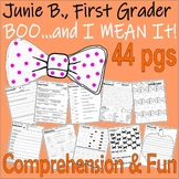 Junie B Jones Boo & I MEAN IT! Halloween Comprehension Book Companion Pack
