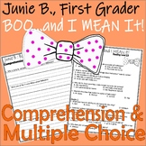 Junie B Jones Boo and I MEAN IT! Halloween Multiple Choice