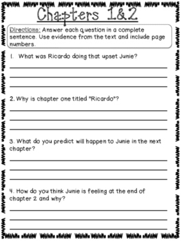 Junie B. Jones Book Club Packet