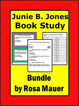 Junie B. Jones Book Study Bundle