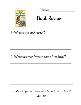 Junie B. Jones Book reviews