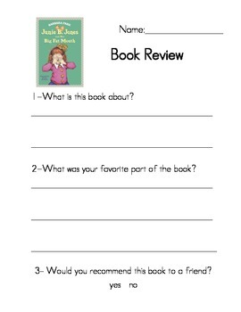 Junie B. Jones Book reviews