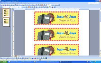 Junie B. Jones Bookmarks for Students