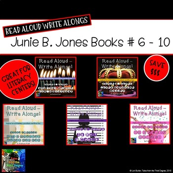 Junie B. Jones Books 6 - 10 Read Aloud Write Along Bundle