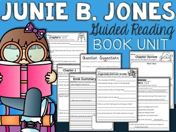 Junie B Jones Boss of Lunch Comprehension Unit