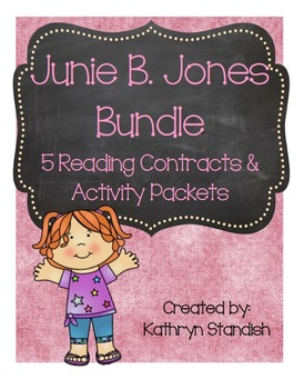 Junie B. Jones Bundle (5 Reading Contracts & Activity Packets)
