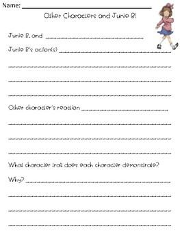 Junie B Jones Cheater Pants Novel Study